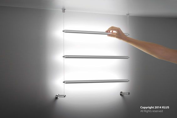 KLUS lighting sconce composition with the use of PDS-O profiles