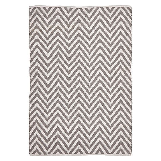 With an essence of timelessness in its tribal design, the durable Knots Chevron Modern Jute Rug, Grey from Rug Republic gives a new spark of life to your look.