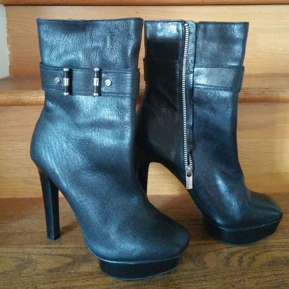 ON SALE!! THIS WEEKEND ONLY Leather Boots Michael Kors black leather boots Michael Kors Shoes Ankle Boots & Booties