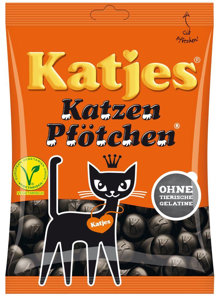 Bonbons au réglisse Katzen Pfötchen ( pattes de chat ) de Katjes