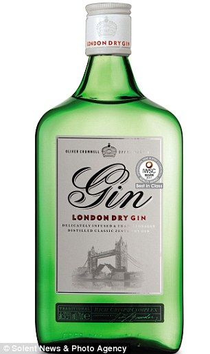 Aldi brand: The £9.65 Oliver Cromwell London Dry Gin which was praised by testers