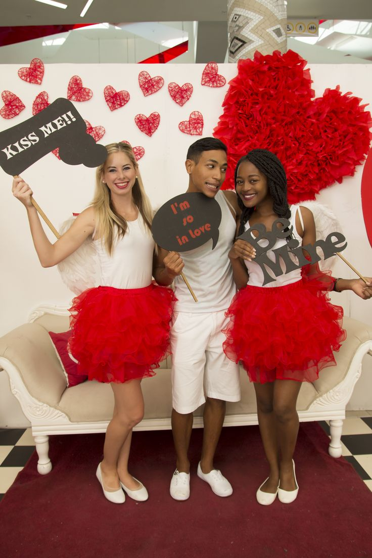 Our Cupid's assisting at the Love Booth