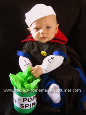 Homemade Baby Popeye Costume: This Homemade Baby Popeye Costume was such an