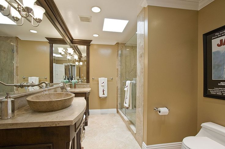 Towel Warmer, Marble - complex, Crown molding, Eclectic, Mediterranean, Skylight, Raised Panel, Vessel