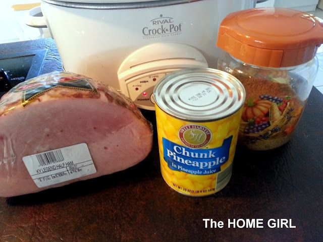 Easy and Delicous Crock Pot Ham!  Just as good as the hams from the Honey Baked Ham Store!