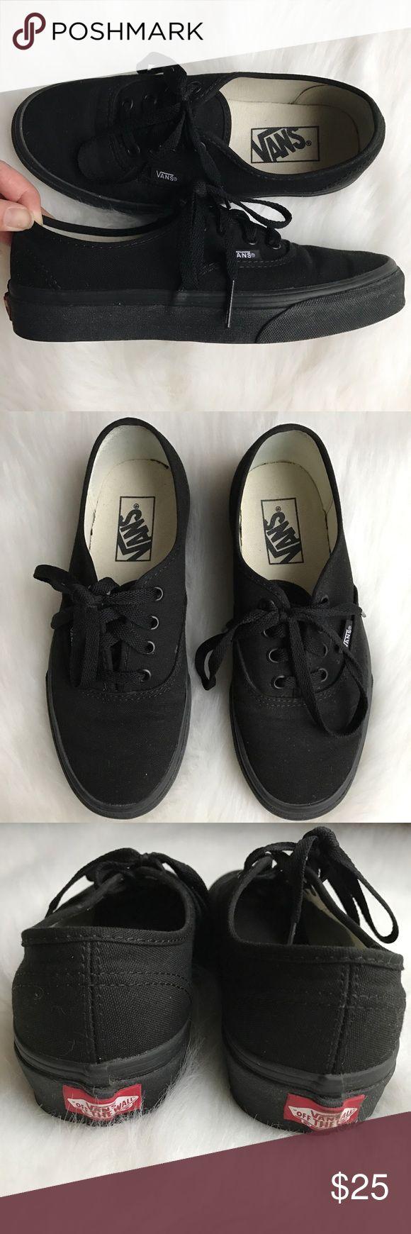 Vans 'Authentic' shoes Vans classic 'Authentic' shoes. Stylish black canvas shoes. Great condition, only worn a few times Vans Shoes Sneakers
