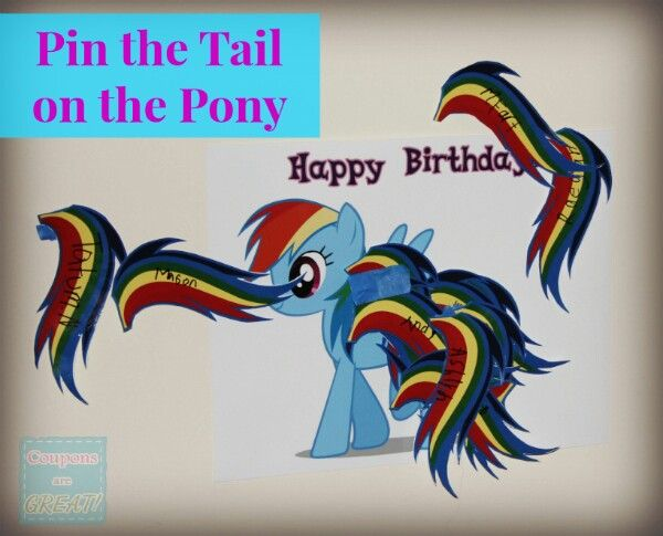 Pin the tail on the pony