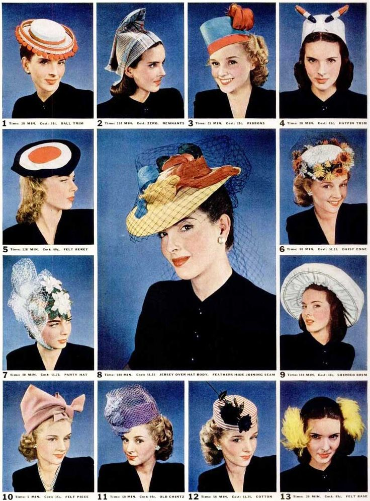 From a story about making your own hats on the cheap, LIFE magazine, 1942.