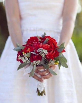 martha stewart red bouquets   Rustic Bouquet