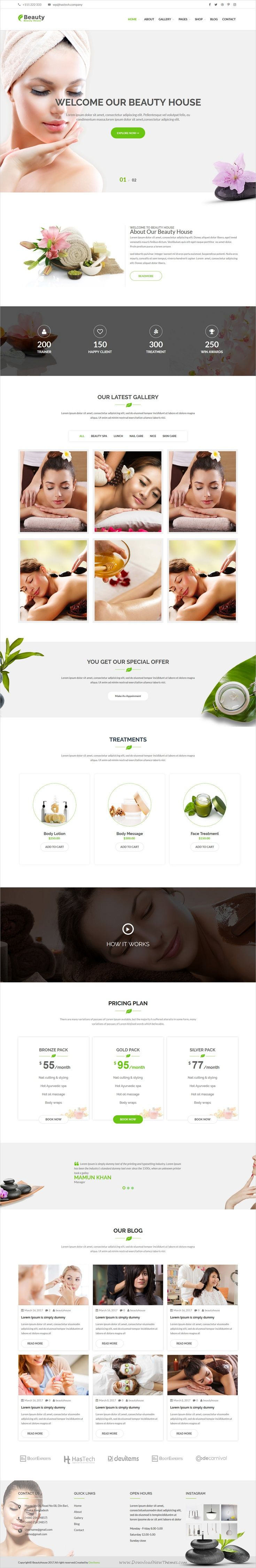 Beauty house is clean and modern design responsive #WordPress theme for beauty #spa, health and #wellness centers website download now ➩ https://themeforest.net/item/beautyhouse-health-beauty-wordpress-theme/19762331?ref=Datasata