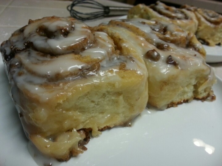 Homemade cinnamon rolls. I made that!