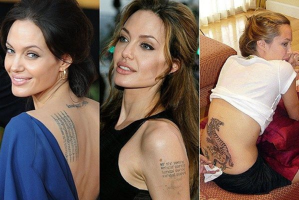 Angelina Jolie Tattoos (With Pictures And Explanation)