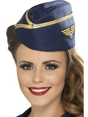 Navy blue air #hostess hat ladies fancy #dress costume #cabin crew hat, View more on the LINK: http://www.zeppy.io/product/gb/2/311456046005/