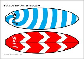 Editable surfboard templates sb3674 sparklebox for Making a surfboard template
