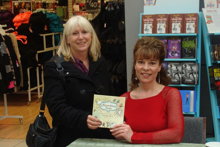 """Weather Lady, Cindy Day at Coles in New Minas signing copies of """"Grandma Says."""""""