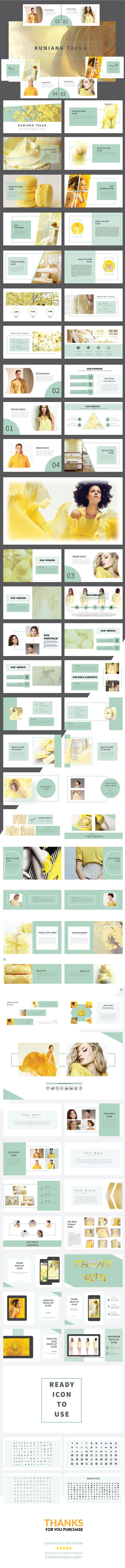 Kuniang Talua Powerpoint Template - PowerPoint Templates Presentation Templates
