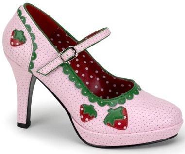 Strawberry Shortcake High Heel Fancy Dress Costume Shoes   eBay