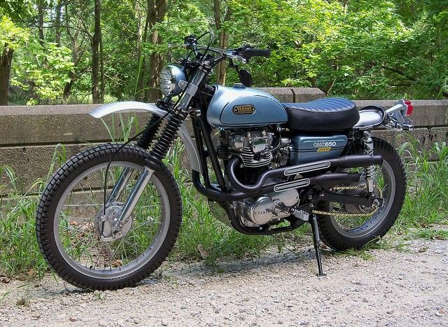 Yamaha XS650 1975 Scrambler -The 520 Chain Cafe #motorcycles #scrambler #motos | caferacerpasion.com