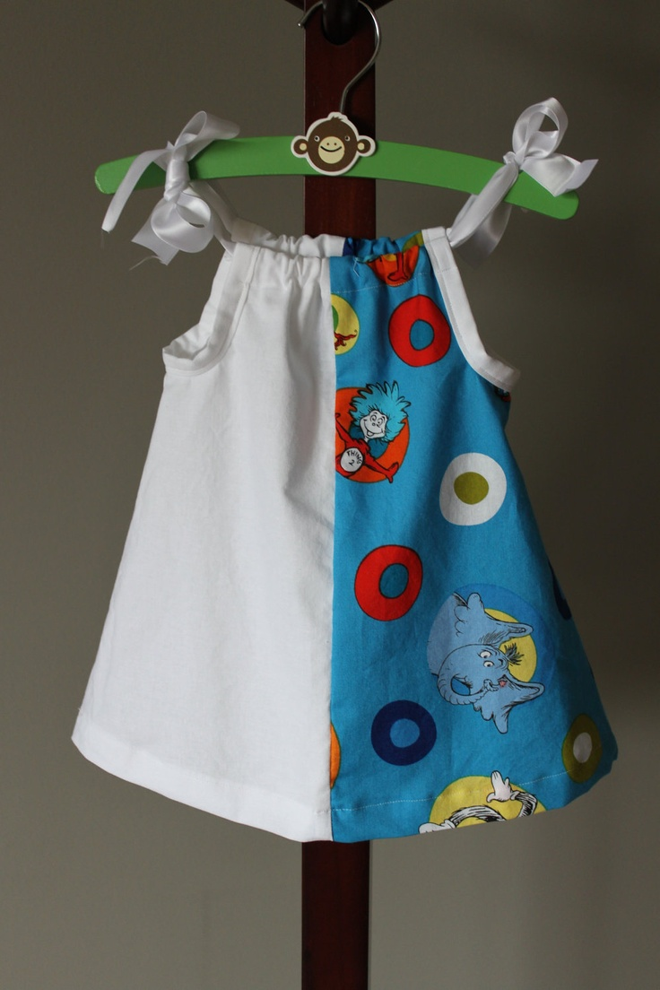 Celebrate Seuss Pillowcase Dress by caisiescloset on Etsy, $25.00