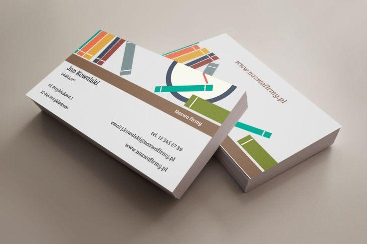 szablon wizytówki Book Shelf