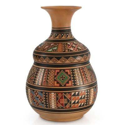 Novica Earthen Wisdom Cuzco Vase