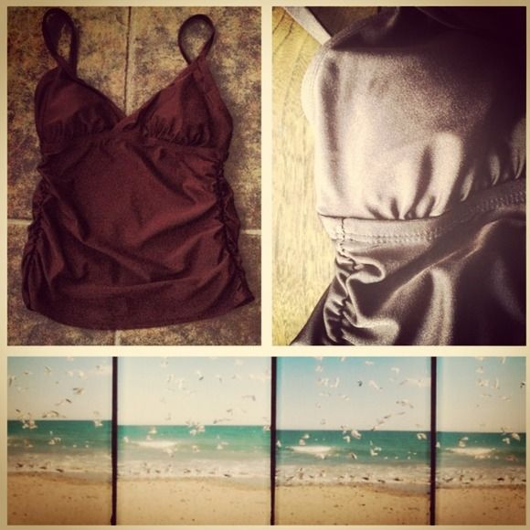 Chocolate Brown Tankini Chocolate brown color Tankini. Really cute and comfy. Slightly padded cups. White Stag Other