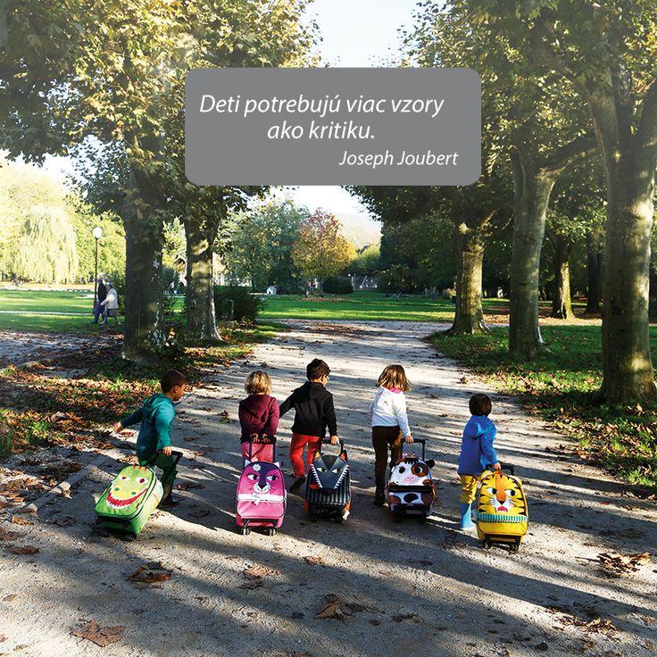 Je vo všeobecnosti známe, že deti rady opakujú po dospelákoch. Poďme im preto vzorom. Kvalitné detské kufre na kolieskach s veselým dizajnom - napríklad vlk v predaji na http://goo.gl/SYhnW4