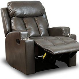 BONZY Recliner Contemporary Ergonomic Theater Seating W/ 2 Cup Holder Leather Chair for Modern Living room Durable Framework-Grey Specification – Model: R6315A51-H039 – Color: Gray – Overall size: 32″W x 37-1/2″D x 39″H; – Seat size: 20-1/2″W x 21-1/4″D x 19″H; – Weight capacity: 300 lbs. – Material health call out – quality materials compliant […]