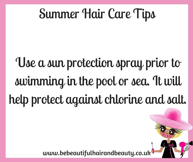 Summer Hair Care Tip #13