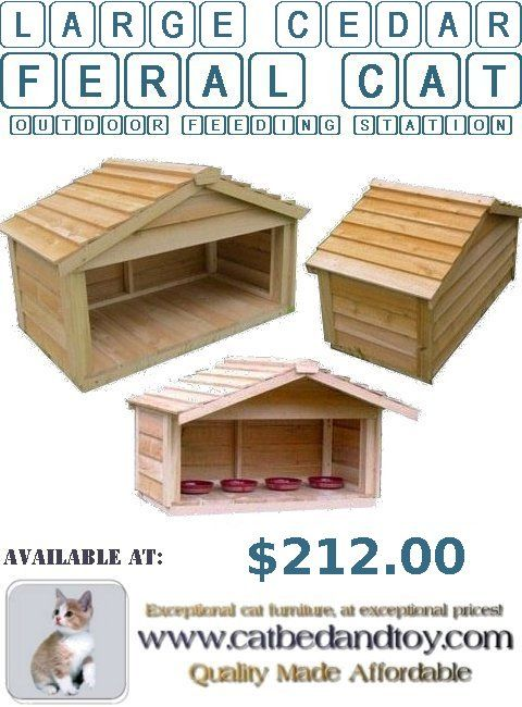 Large Cedar Feral Cat Outdoor Feeding Station – Do The Feral Cats Need This? -  #largecedarferalcatoutdoorfeedingstation #insulatedoutdoorcatshelters #outdoorcatenclosures #feralcathouse #outdoorcathouseplans #outdoorcathouseforwinter #outdoorheatedcathouse #outsidecatshelters #outdoorcathouses #outdoorcatsheltersforsale #outdoorcatsheltersandfeedingstations #outsidecathouse #outsidecatenclosures #insulatedoutdoorcathouse