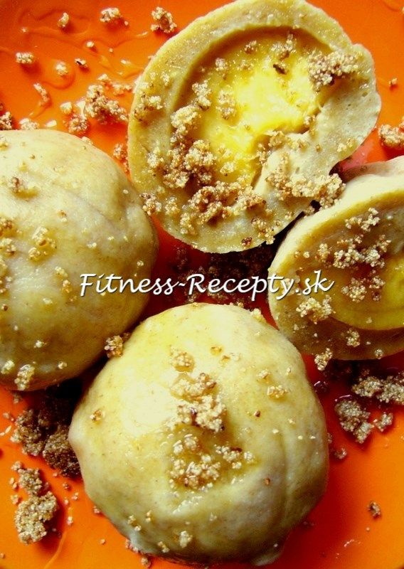 ovocné tofu guľky s chrumkavou posýpkou