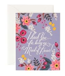Rifle Paper Co. Thank You Maid of Honor cards now available at Northlight