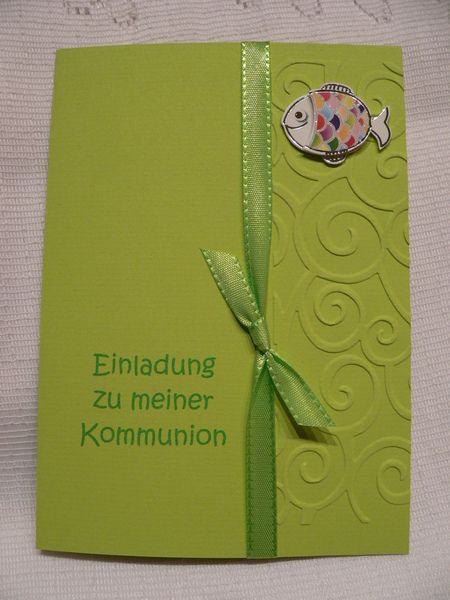 Einladung Einladungskarte Kommunion Konfirmation