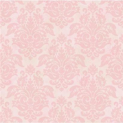 CKB77721 Red Peony Damask Wallpaper Kitchen, Bed, & Bath