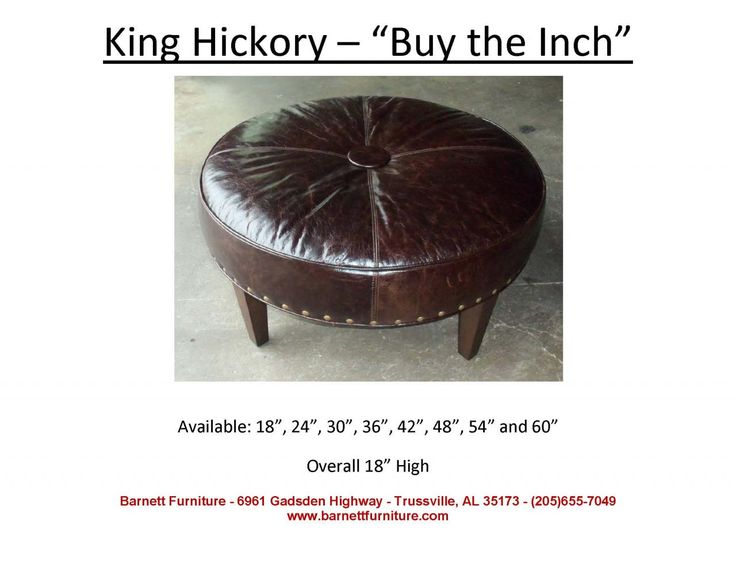 King Hickory The Inch Round Ottoman With Modern Leg You Choose