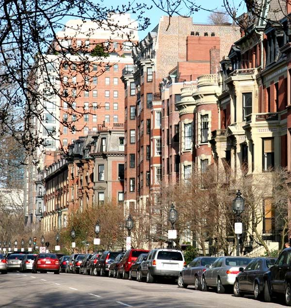 My favorite street in the world is Commonwealth Avenue in Boston's Back Bay area.
