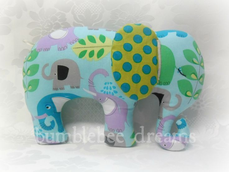 Handmade Elephant Softie  www.facebook.com/bumblebeedreams