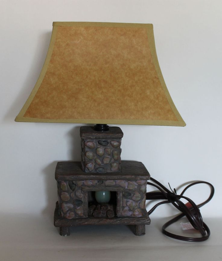 Great Hand Painted Ceramic Fireplace Lamp #JSNY #Country Cute! Have To Add It To