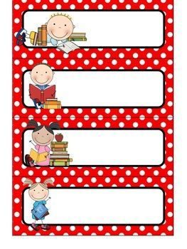 {Editable} Daily Schedule Cards - Primary Color Polka Dots.  Type your subjects into text boxes!