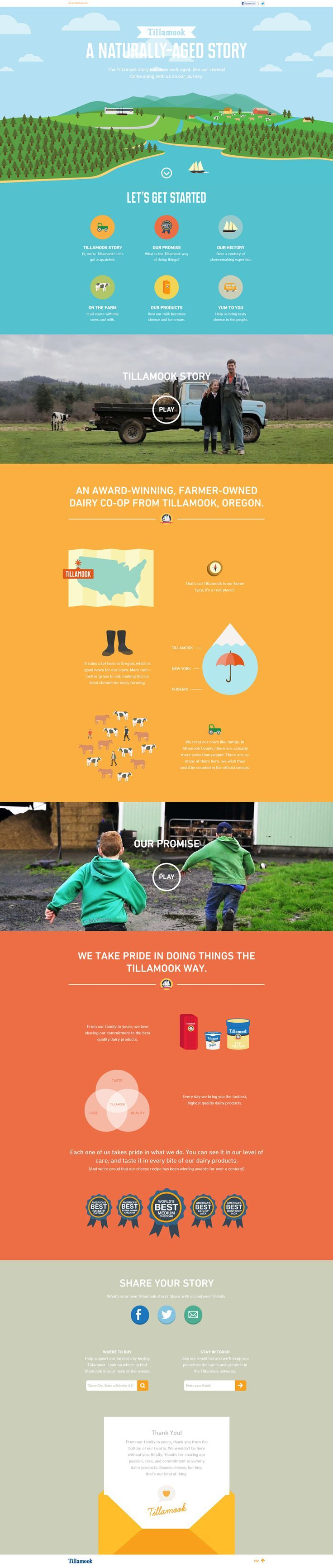 Bright colors in this simple yet beautiful web design