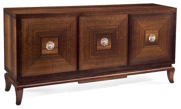 Aroma 3 Door Credenza transitional bookcases cabinets and computer armoires