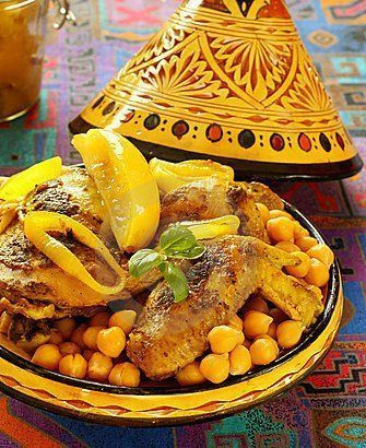 Chicken and chickpeas moroccan food moroccan food - Moroccan cuisine recipes ...