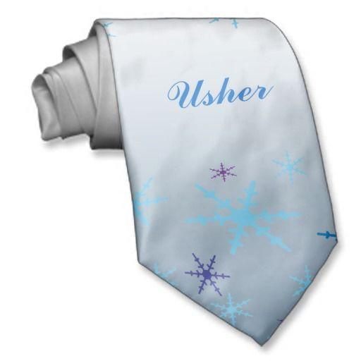 Winter Wedding Usher Tie