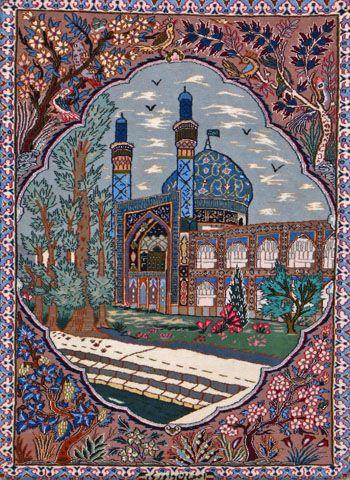 """Esfahan Persian Rug, Buy Handmade Esfahan Persian Rug 2' 4"""" x 3' 1"""", Authentic Persian Rug"""