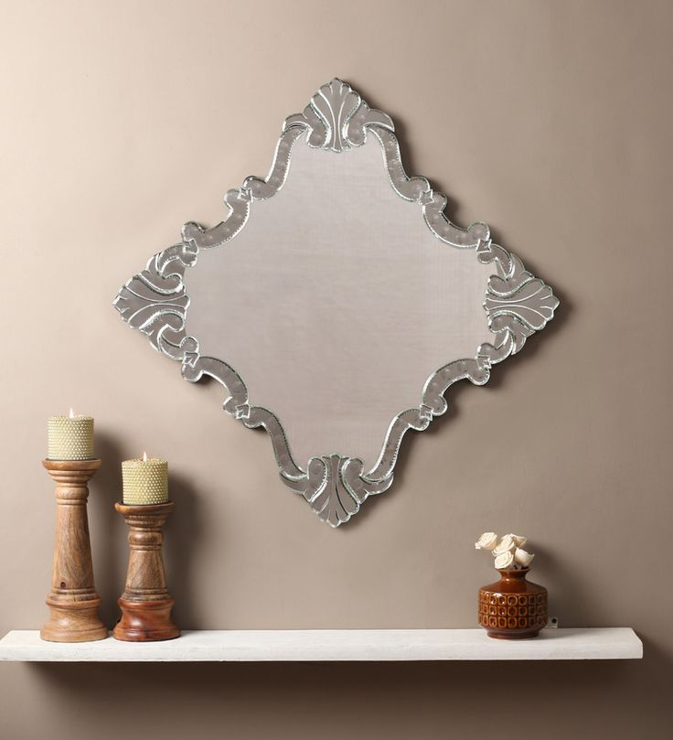 Viena Silver MDF Mirror #mirrors #mirror #reflectors #show #pinit #pinterest #shazliving Shop at: https://www.shazliving.com/
