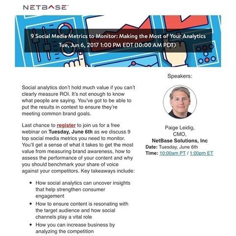 Attend this free Adweek webinar today at 1pm to learn 9 Social Media Metrics to Monitor: Making the Most of Your Analytics. http://ift.tt/2suWnZw #socialmediamarketing #socialmediamarketingtips #marketingdigital #advertising #mohawk college hamilton customer client advice advertising help love job career money socialmedia advice webinar webcast adweek tips business analytics measure tools awareness brands build strength #success #entrepreneur #inspiration #motivation #business #boss #luxury…