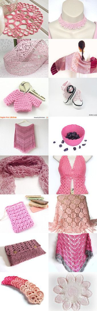 maRRose - CCC: Treasury Tuesday: Lovely Crochet in soft Pink as collected by Marianne Dekkers-Roos on Etsy--Pinned+with+TreasuryPin.com