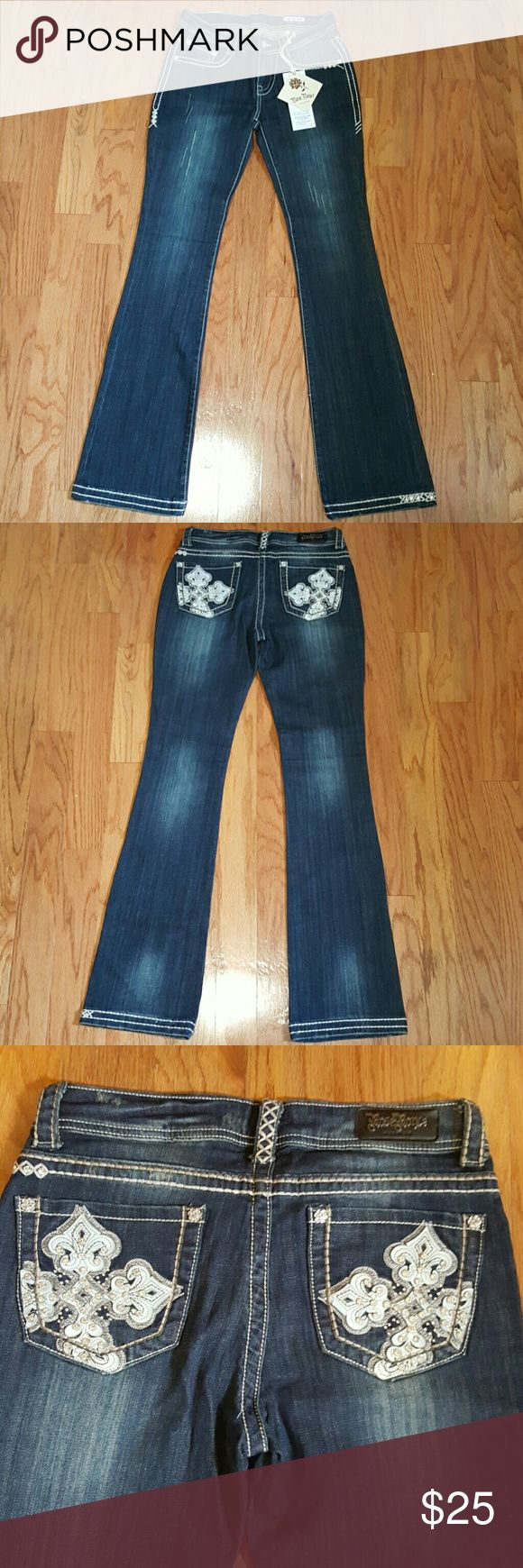 """NWT Rose Royce Boot Cut Jeans Size 27 (5/6) New With Tag! Rose Royce Jeans Size 27, Length 33"""" Rose Royce Jeans Boot Cut"""