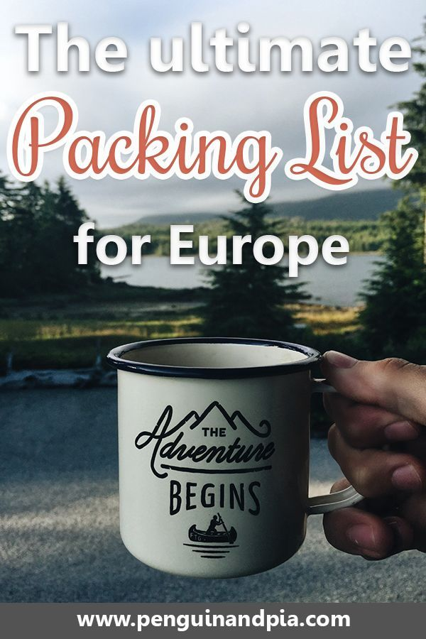 What to Pack for Europe Our Trusty Europe Packing List Europe - packing checklist template