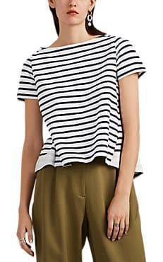 Sacai Gestreiftes Baumwolljersey T-Shirt – Mode für Frauen, trendige Mode, Tren…